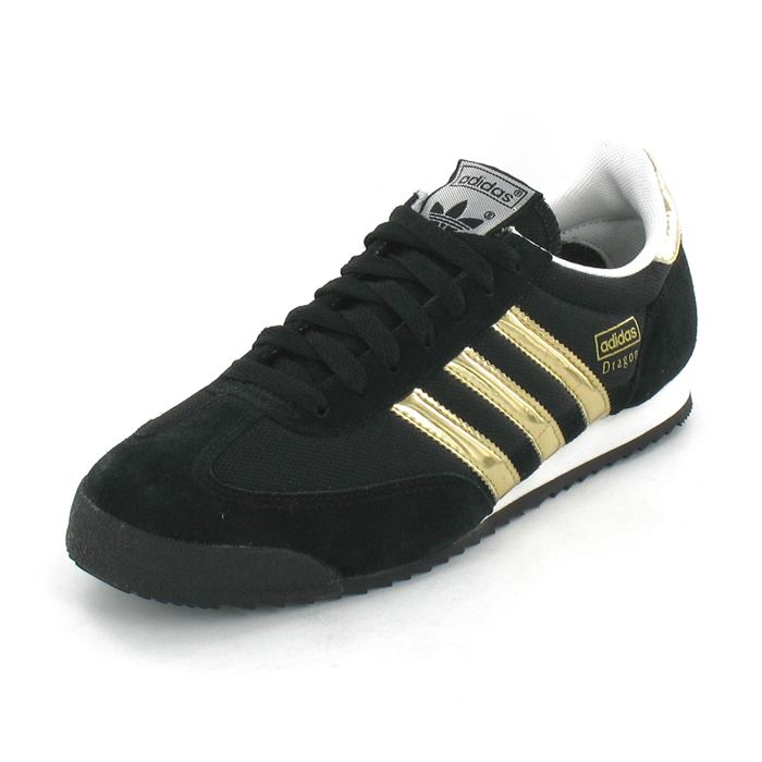 adidas dragon noir et or